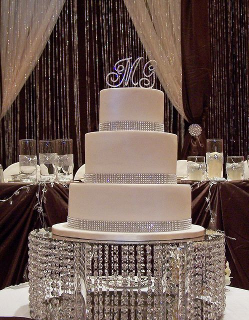 Bling Wedding Cake by cakespace - Beth (Chantilly Cake Designs), via Flickr