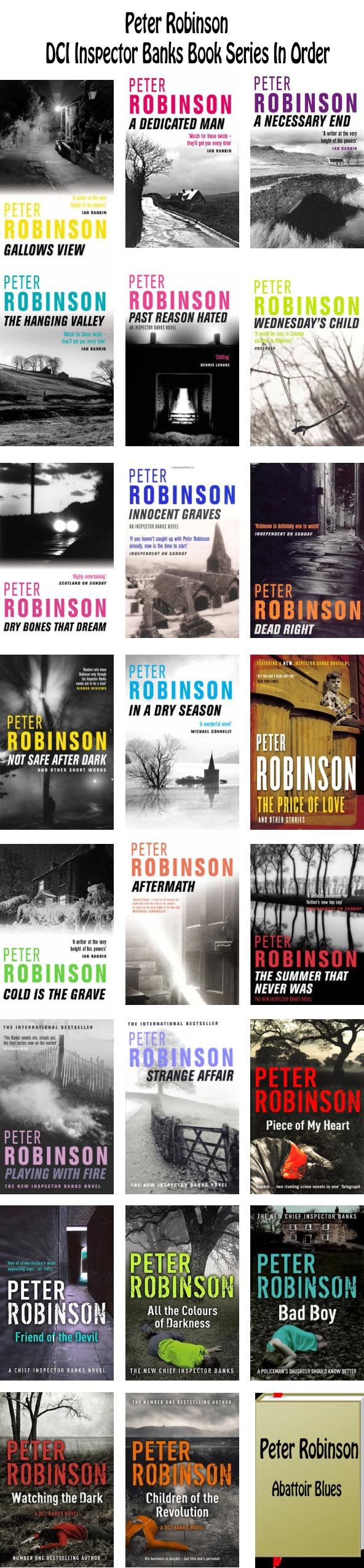 Peter Robinson DCI Inspector Alan Banks books in chronological order British mystery series #novels