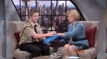 """This 14 year old boy is one of the most inspirational I have met. For his Eagle Scout project, he designed an """"Amazing Race"""" type event to help people understand how people with Autism (like his 17 year old brother) live every day."""