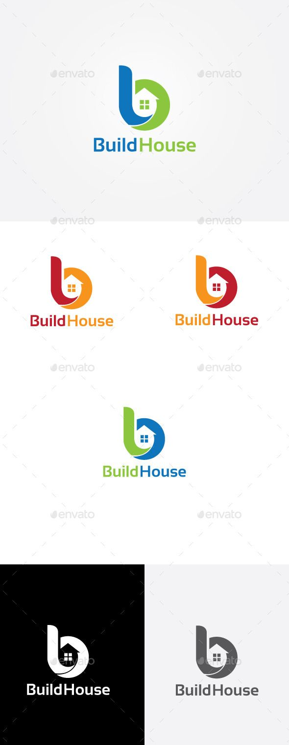 Build House - Logo Design Template Vector #logotype Download it here: http://graphicriver.net/item/build-house-logo/9436585?s_rank=227?ref=nesto