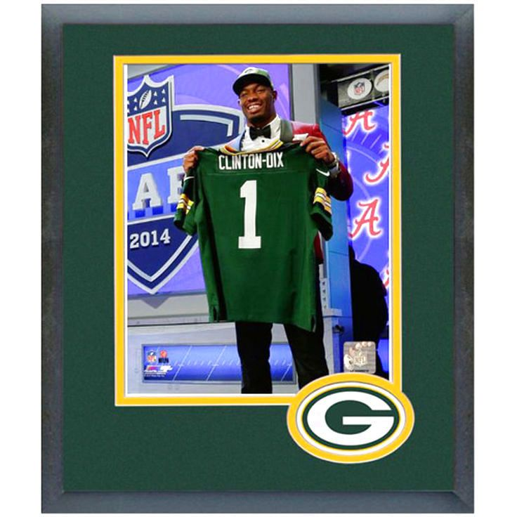 Ha Ha Clinton-Dix Green Bay Packers NFL Draft Framed Photo Mat - $35.99