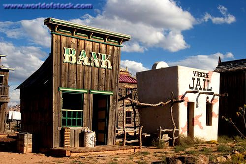 old western towns | Mock Up Of An Old Western Town At The Virgin Trading Post In The Town ..
