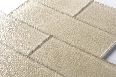 Beige Tan Linen Glass 4x12 Quot Subway Tile Backsplash Accent