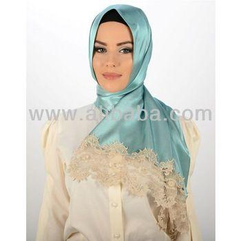 Beautiful Muslim Hijab Arab Scarf New Satin Islamic Headwear ...