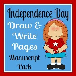 Independence Day Printables - Draw  Write Pages Manuscript Pack