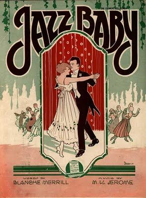 Another sheet  music cover from 1919. This type is so playful. I love it!