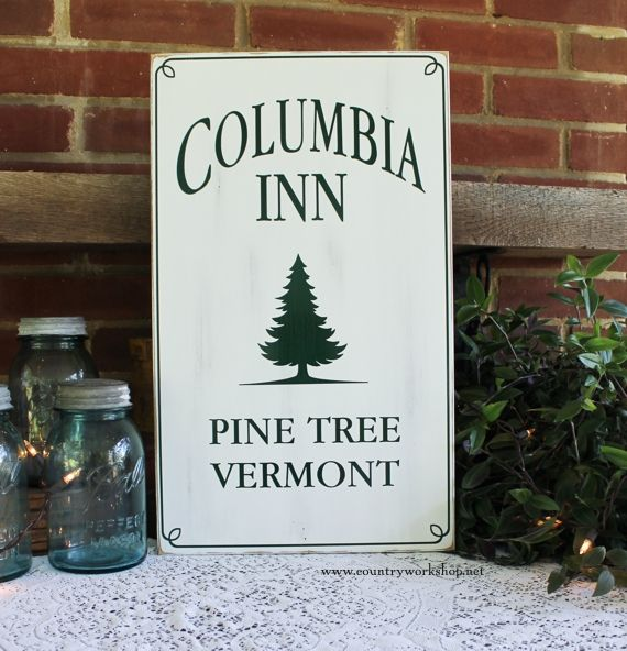 Columbia Inn Pine Tree, Vermont Dreaming of a White Christmas Design 2