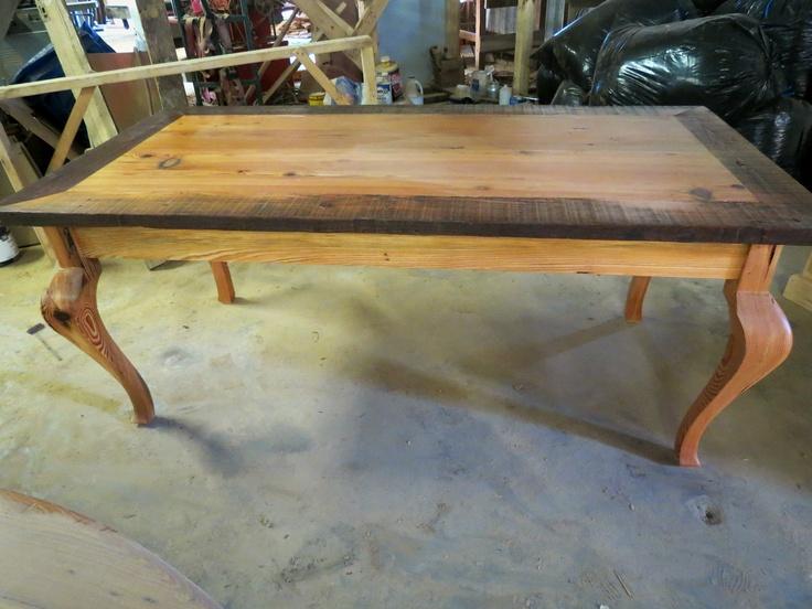 cabriole leg table new orleans reclaim wood rare antique heart pine 1 250 00 10