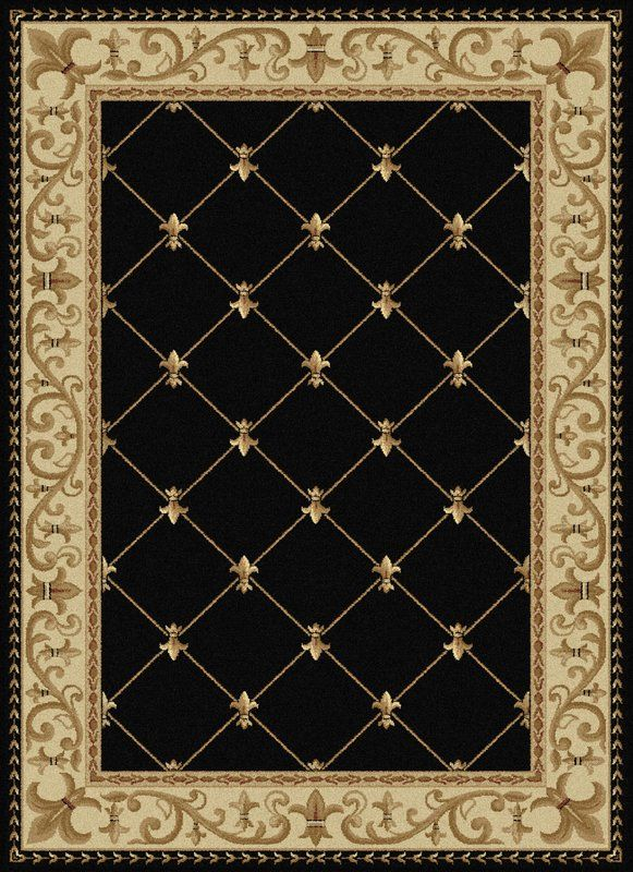 Clarence Oriental Black Gold Area Rug Traditional Area Rugs