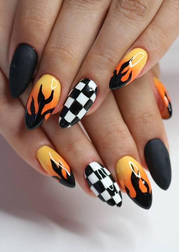 51 Stylish Fire Nail Art Design Ideas You Must Try Fire Nails Nail Designs Glitter Nails