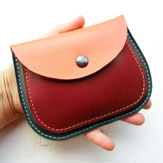 MERRY 2492. Handmade, Leather clutch Large Purse by Fairysteps