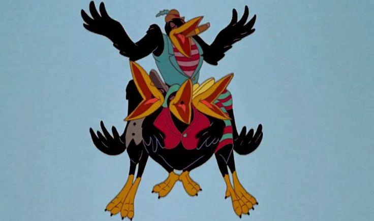 Disney movie with three black crows