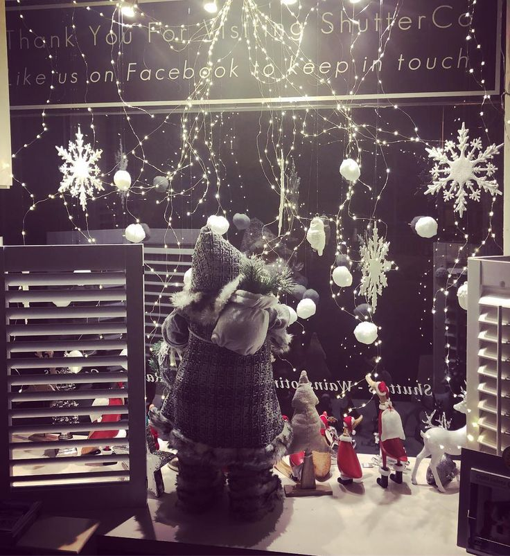 Just locking up for the day. Christmas window 2017 completely and looks oh so festive #recent #shutterco #christmasgifts #christmas2017 #snowisfalling #shutterco #christmaswindow