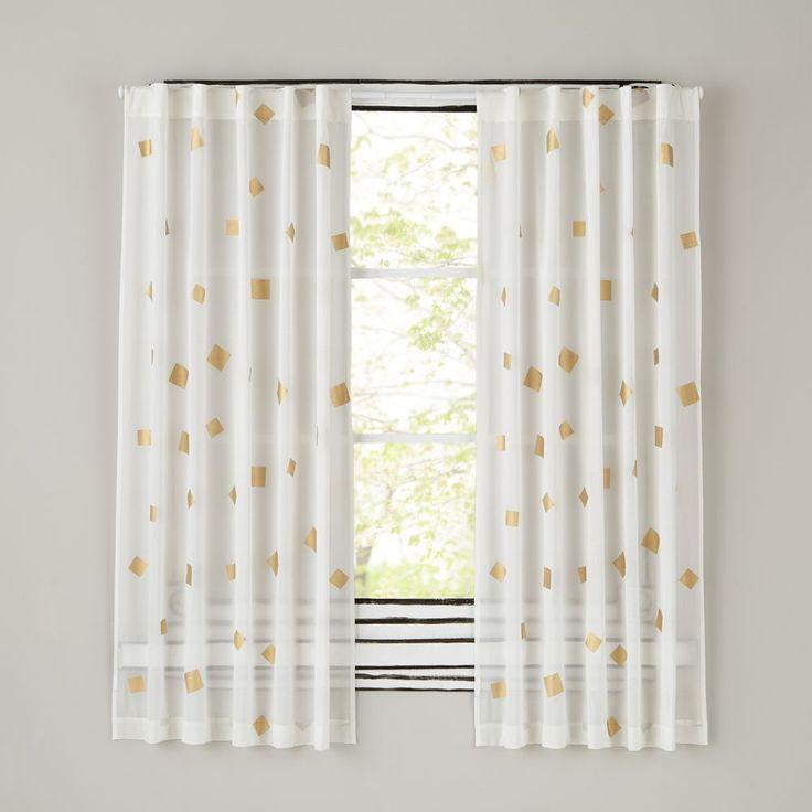 """63"""" Gold Confetti Curtain"""