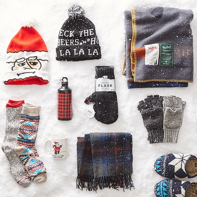 From warm winter hats to @woolrichinc blankets, we've got cozy gifts for the guy in your life.  #AEOSTYLE