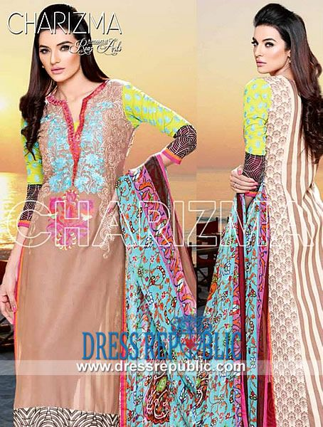 Charizma embroidered designer lawn suits wholesale riaz