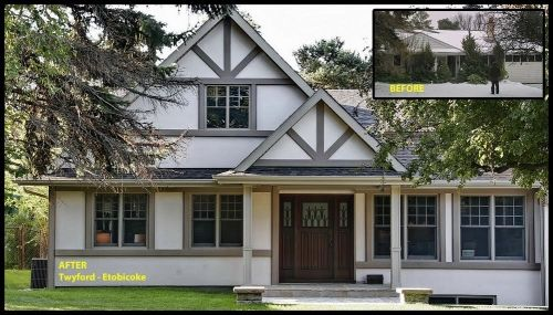 Before After home renovation: Twyford- Etobicoke #renovation Ontario CAN #renovation #modularhome