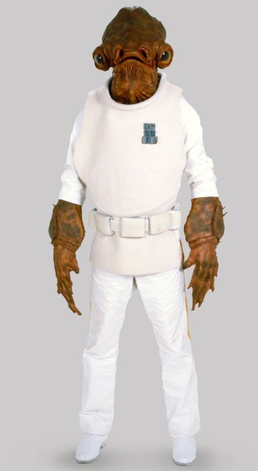 I love Admiral Ackbar. He only has a tiny part but he really has presence. I think it's his charisma :)