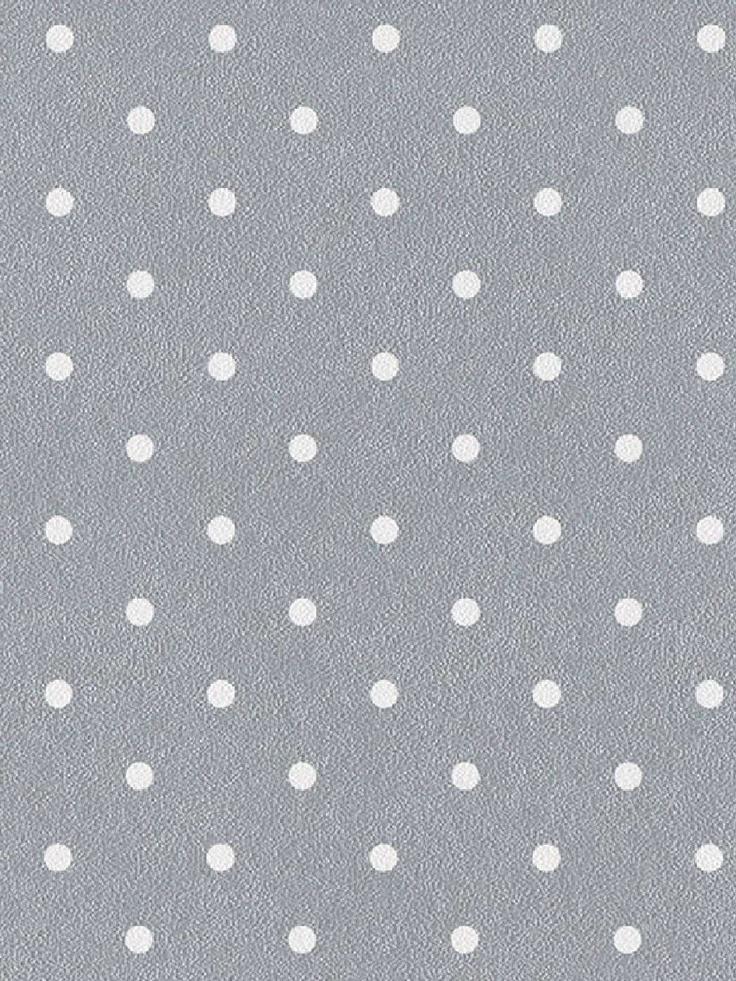 Rasch Silver and White Polka Dots Wallpaper