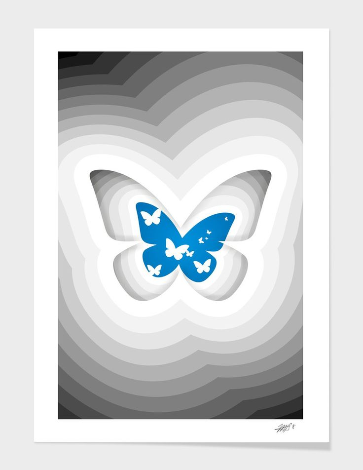 Butterfly - The artwork is available on: https://www.curioos.com/product/print/butterfly-16