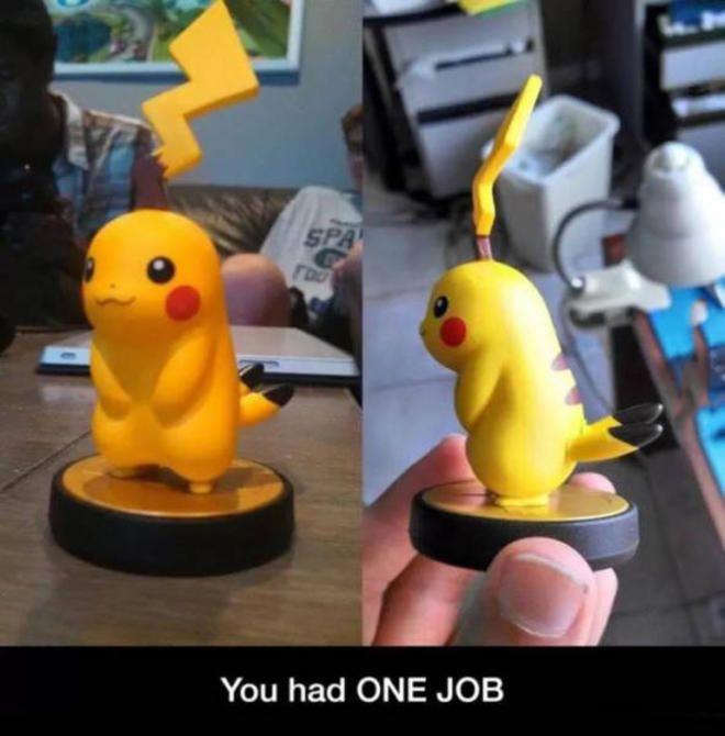 You had ONE job...