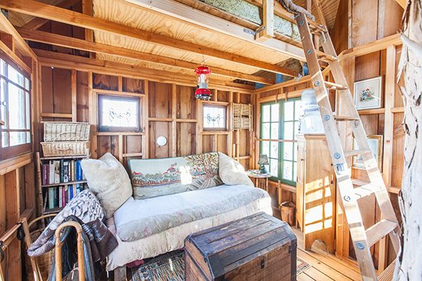 Petaluma Tree House  http://www.refinery29.com/2014/03/64349/best-air-bnb-listings#slide19  Tree House At Swallowtail Studios Hood: Petaluma, CA Price: $156 per night  Your childhood fantasy is coming to life in a major way. This treehouse in Petaluma puts Bart Simpson's to shame. It's 30 feet high (if that doesn't inspire you to stargaze, we don't know what will) and is a spacious multi-floored bungalow practically built for your inner adventuring arborist. ...