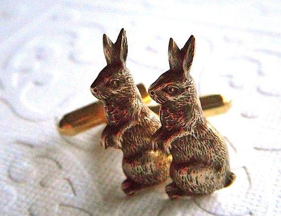 Bunny profile cuff links: Cufflinks