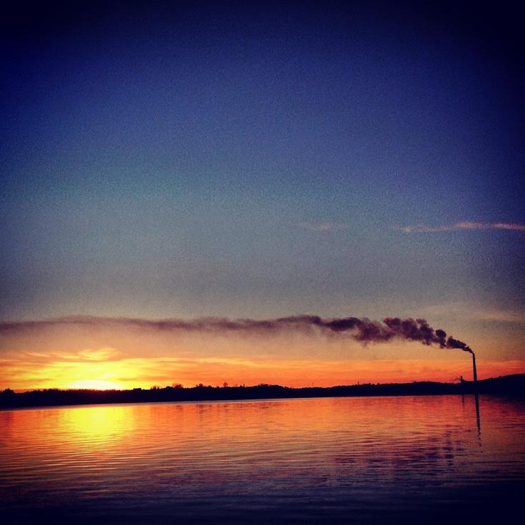 Sudbury Ontario sunset.