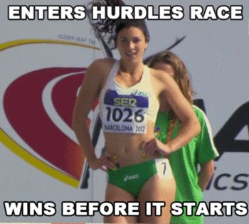 19-year-old Michelle Jenneke is quite possibly the world's most beloved Track athlete right now. If not the world's, then certainly the web's. The Australian junior hurdler had a stellar performance at the AAF World Junior Championships last weekend in Barcelona, but it's not her hurdling skills that have people talking -- it's her unique warmup routine! You can Google for the video ... it's pretty cute ...