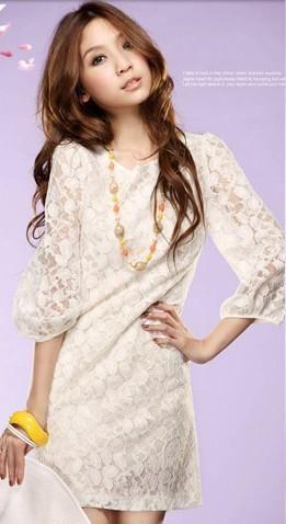 Cream lace dress $15. Cute.
