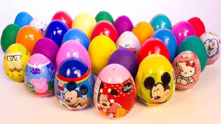 Play Doh Giant Eggs Princess Kinder Surprise Disney Cars 2 Hello Kitty M...