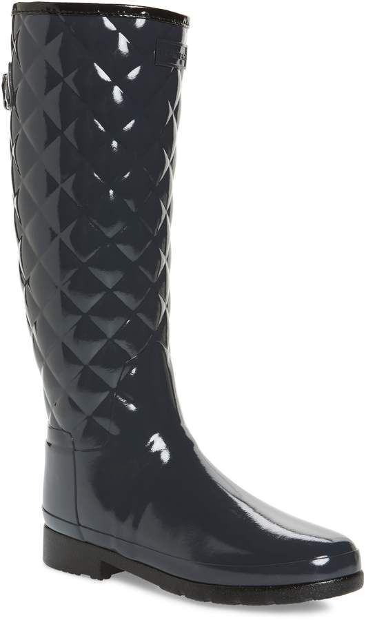 2aede2e5b03 I love this style of Hunter. How classy! Hunter Original Refined High Gloss  Quilted Rain Boot  hunter  boots  kneehighboots  fashion  affiliate