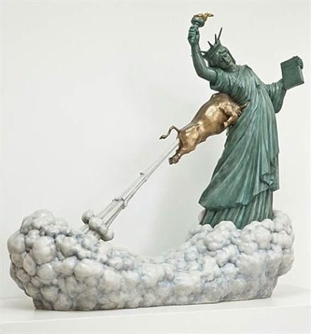 Chen Wenling,Statue of Liberty and The Golden Bull, 2009