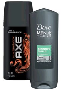 FREE Dove Men Care Sensitive Shield Body Wash and AXE Dark Temptation Body Spray Samples on http://hunt4freebies.com