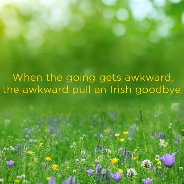 21 Proverbs For Introverts I've done the Irish goodbye... Maybe more than once.