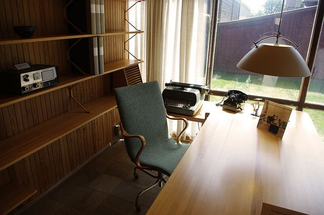 home office of architect/furniture designer bruno mathsson