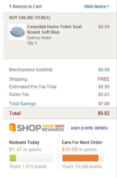 FREE Toilet Seat at Kmart & FREE Shipping (Pick White or Blue)