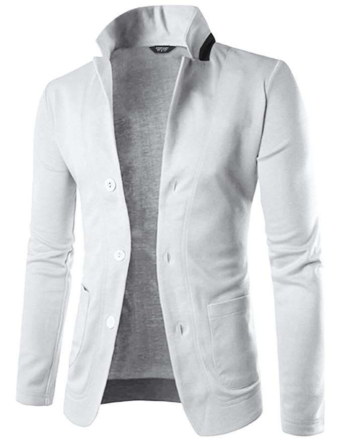 Mens Casual Suit Blazer Jackets Lightweight Sports Coats One Button