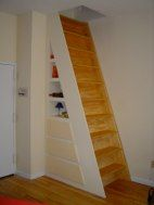 combination stair and cabinet- our dream job!