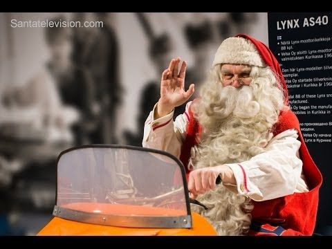 Santa's House of Snowmobiles opening in Santa Claus Village in Rovaniemi