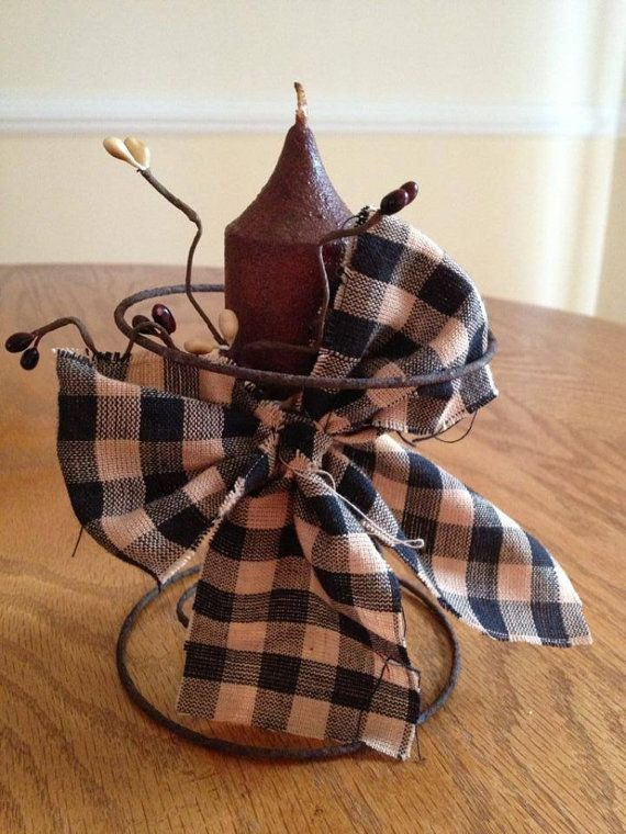 Grubby Candle in a Rusty Bed Spring by LilTouchofCountry on Etsy, $12.00