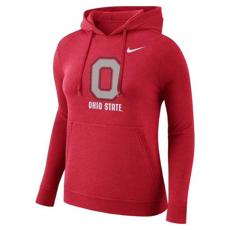Women's Nike Ohio State Buckeyes Fleece Hoodie, Size: Medium, Red