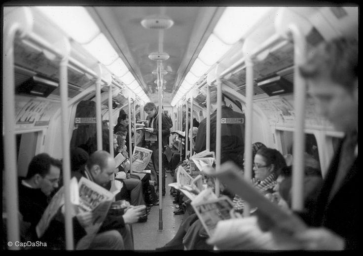 Street Photography by CapDaSha London Tube