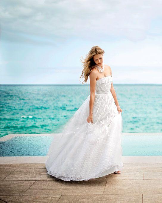 The Long Weekend Soft Sheer Destination Wedding Dresses
