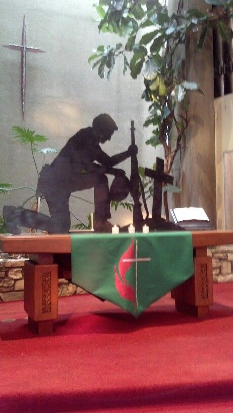 the altar display used for veterans