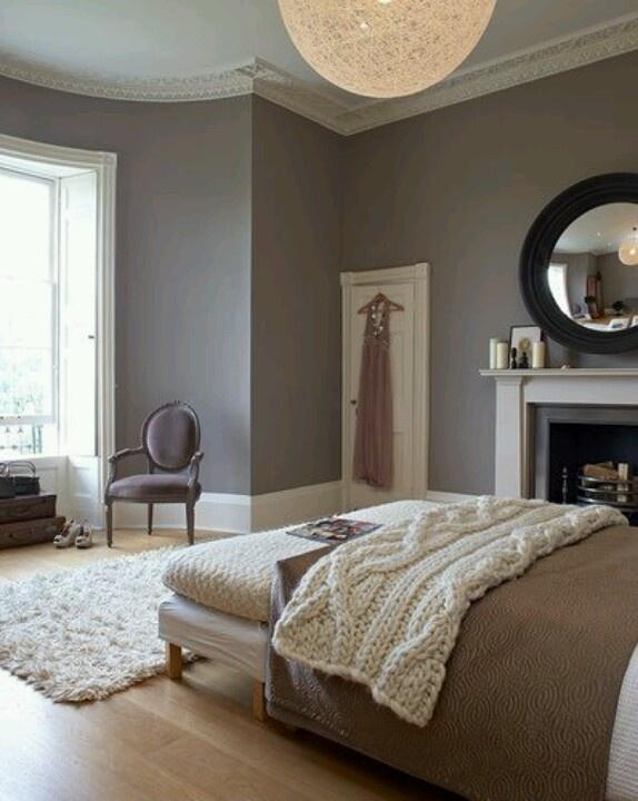 Dove Tale paint colour & fireplace http://www.alittlepanache.com/