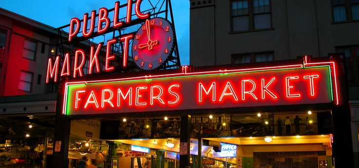 "Whether you're shopping for farm fresh produce, unique foods from around the world, or handmade arts and crafts, you'll find it at Pike Place Market.  Welcome to Seattle's neighborhood market. Pike Place Market is the city's center for fresh, locally produced food. Established in 1907 to connect citizens and farmers, the Market continues its ""Meet the Producer"" tradition with a year-round farmers market and locally owned bakeries, seafood, dairy and butcher shops. A nine..."