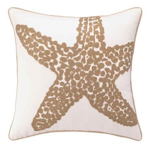 Beach Large Starfish Embroidered Pillows