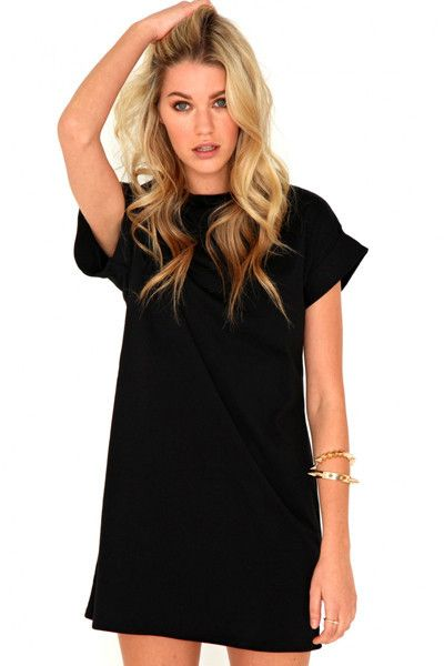 Best 20  Black tshirt dress ideas on Pinterest | Fall dresses ...