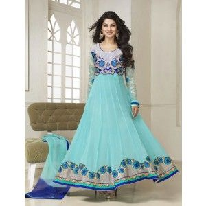 Jennifer Winget (Kumud) Latest Designer Cream Cyam Anarkali Suit